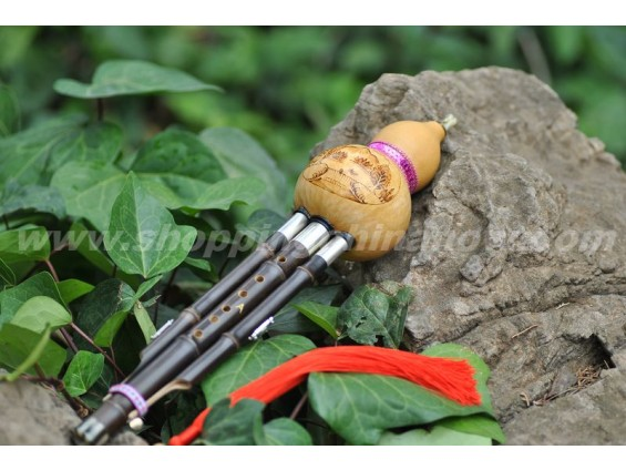 Professional Hulusi with Natural Gourd HY02