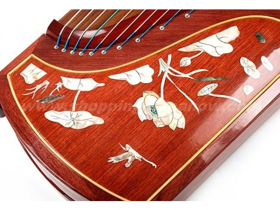 Professional Guzheng 694L with Lotus Carving